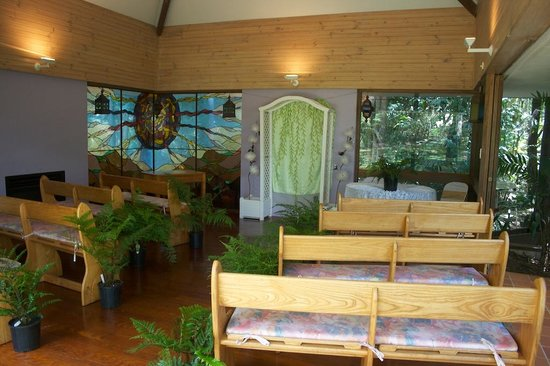 Tanglewood Gardens: The chapel where we had our ceremony