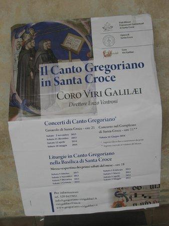 Basilica di Santa Croce: Da non perdere ' i canti gregoriani ' come da programma
