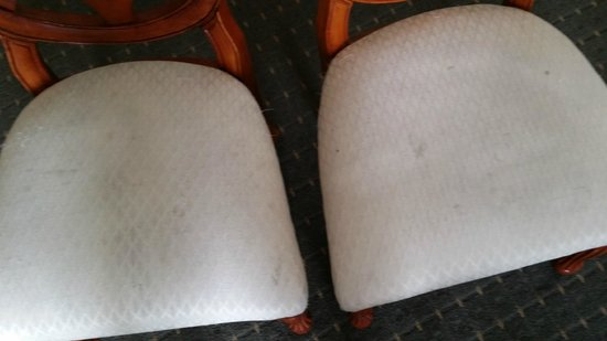 The Concourse Hotel at Los Angeles Airport - A Hyatt Affiliate: Dirty Bedroom chairs
