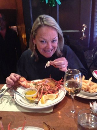 Union Oyster House: The lobster was awesome.