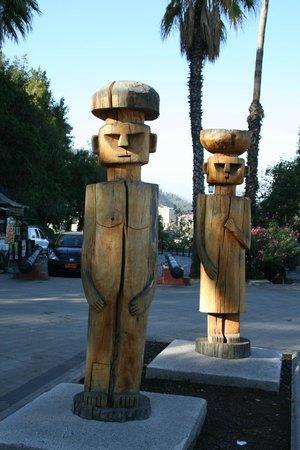 Colline Santa Lucia de Santiago : carvings