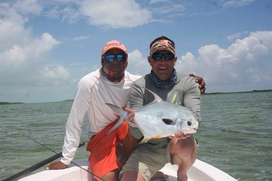 GoFish Belize: nice permit with darrel