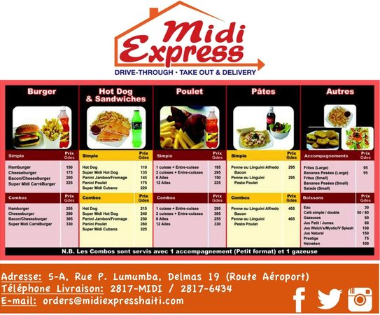 Midi Express : Choose from our Menu