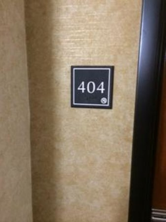 Comfort Inn & Suites : Room Label on Door
