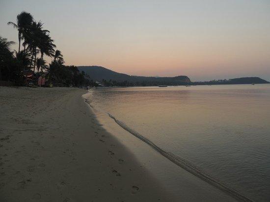 Samui Pier Resort: Bophut beach atardecer