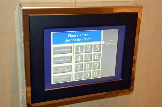London Hilton on Park Lane : Elevator touch pad