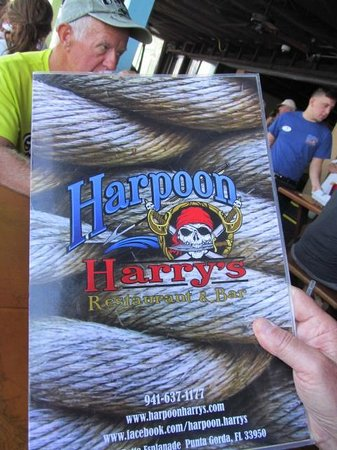 Harpoon Harry's Restaurant and Bar : Menu Cover