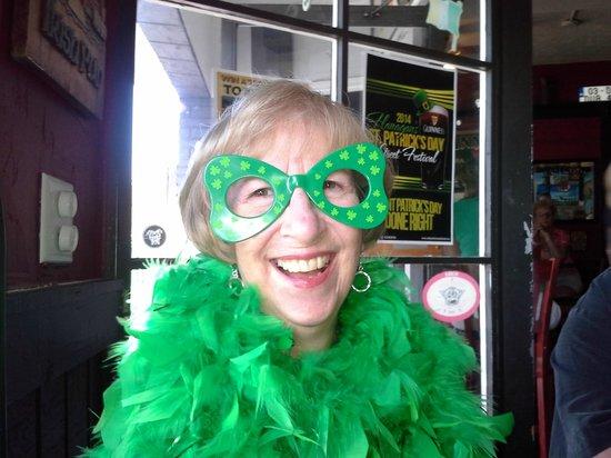 Flanagans Irish Pub: St. Pat's Birthday Gal Marie