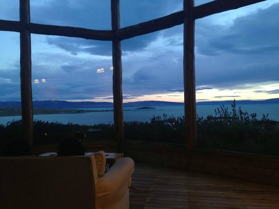 Blanca Patagonia: view from the reception