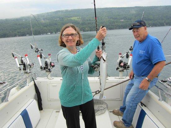 Keuka Big Foot Charters - Tours : More lake trout
