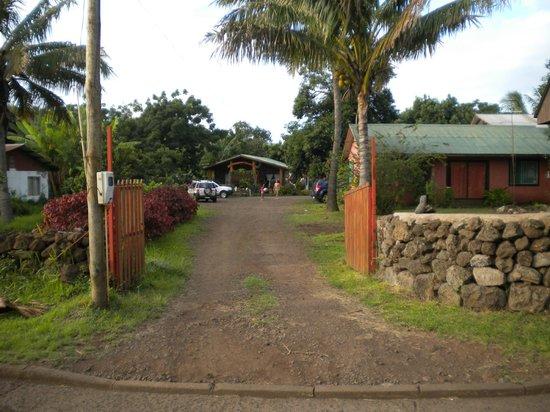 Tea Nui - Cabanas y Habitaciones: entrada al hotel