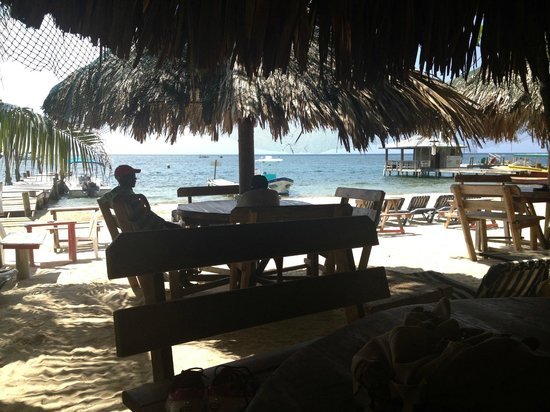Ronny's Barefeet Restaurant & Bar : View of the beach