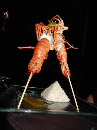 Urraca Private Island: Lobster meal