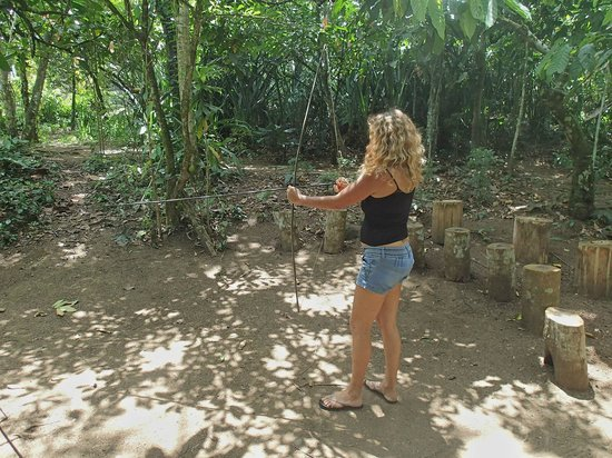 Centro Turistico Brigitte: Brigitte practicing her archery