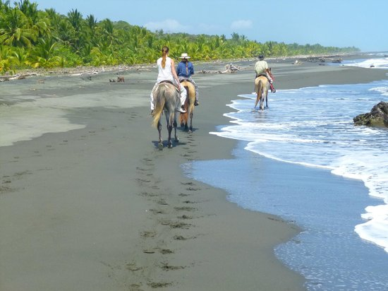 Centro Turistico Brigitte: riding the black sand beaches