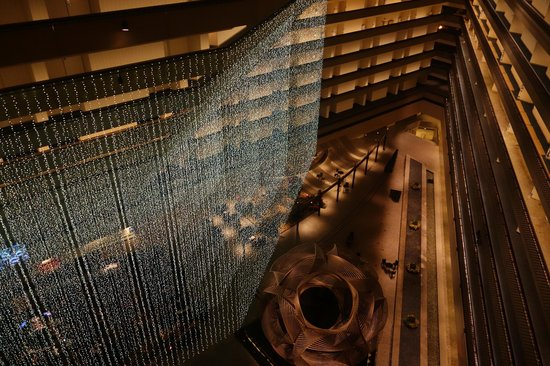 Hyatt Regency San Francisco : A view from above - looking down at the gorgeous lobby