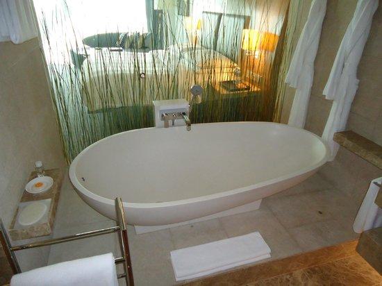 Hyatt Capital Gate: Almost art, the tub was beautiful