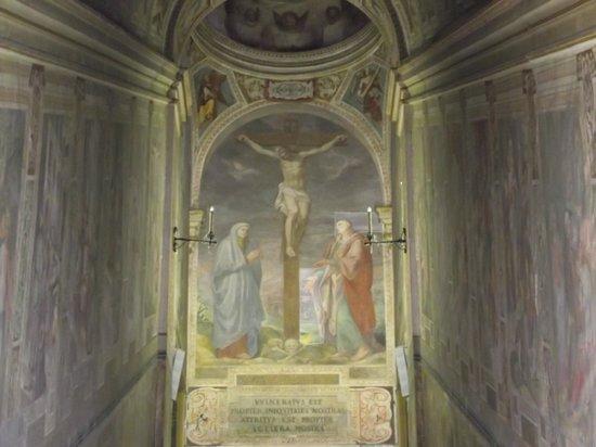 Scala Santa and Chapel of San Lorenzo: Afresco central da Escada Santa