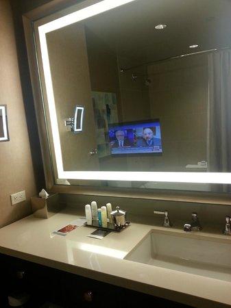 Omni Dallas Hotel: Tv in mirror