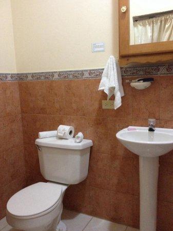 River Park Inn: The bathroom