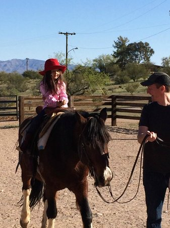 Flying E Ranch : under age 6 can be led around corral