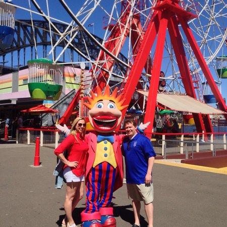 Luna Park Sydney: With the man