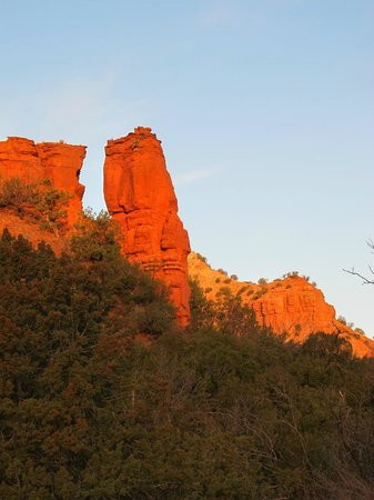 Caprock Canyons State Park: Colorful rock formation in South Prong Canyon
