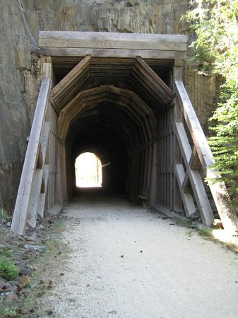 George S. Mickelson State Trail : safe tunnels provide a cool spot on a warm day