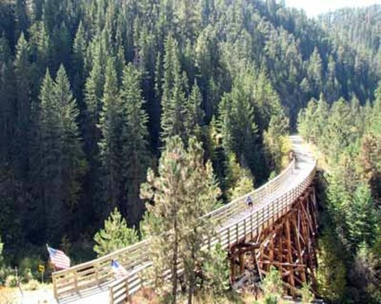 Deadwood, SD: wooden bridge