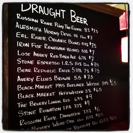 Sorrel Restaurant and Bistro: Ever changing beer list.