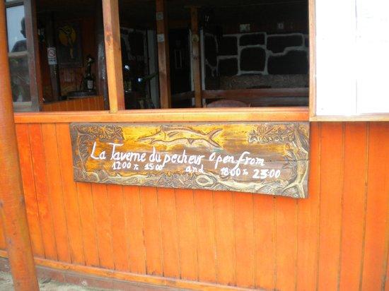 La Taverne du Pecheur: horario