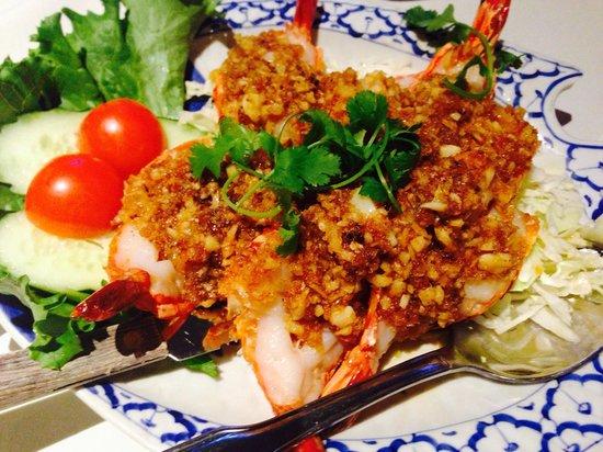 President Thai Restaurant: Garlic Prawns
