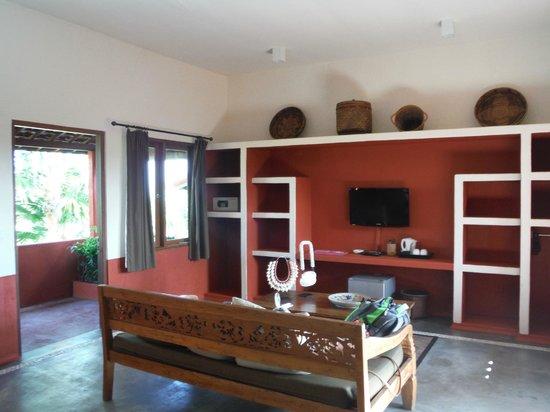 PinkCoco Bali : chambre avec clim et vue sur la mer