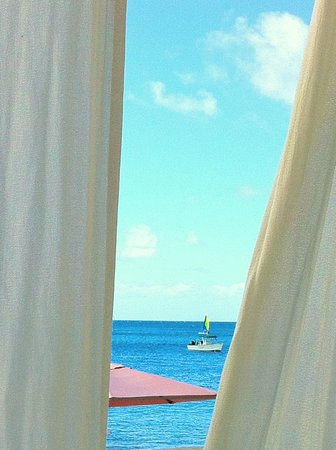 The BodyHoliday, LeSport : Through cabana curtains
