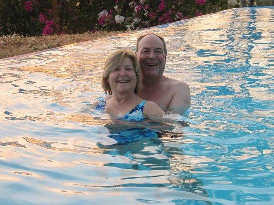 Enjoying the pool at Cristal Azul