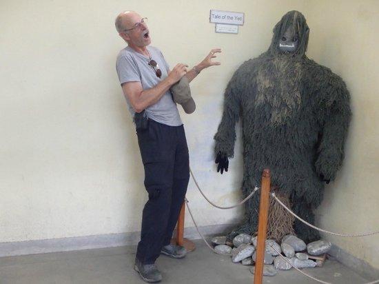 International Mountain Museum: me and the Yeti