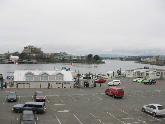 the inner harbour, including the Flying Otter restaurant