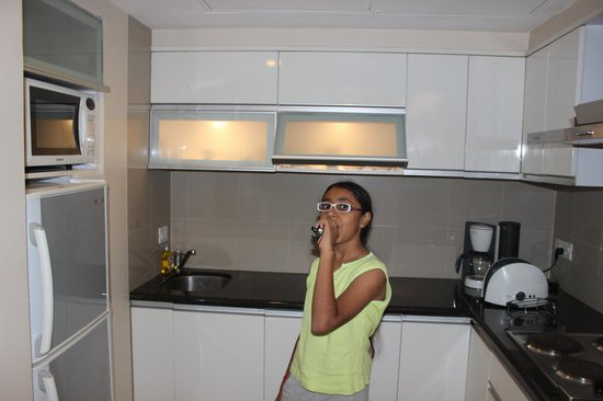 Oakwood Residence Naylor Road: My daughter in Kitchen