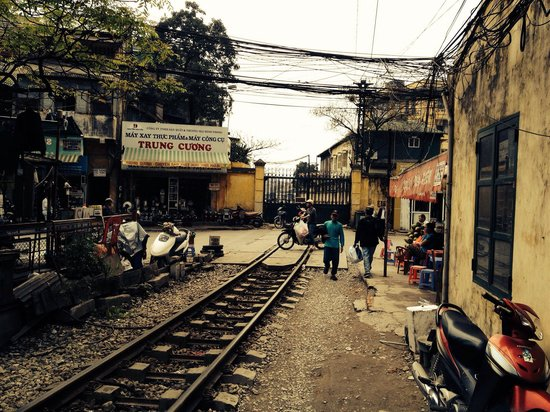 Old Quarter: Transport is a way of life in Hanoi - and space is limited
