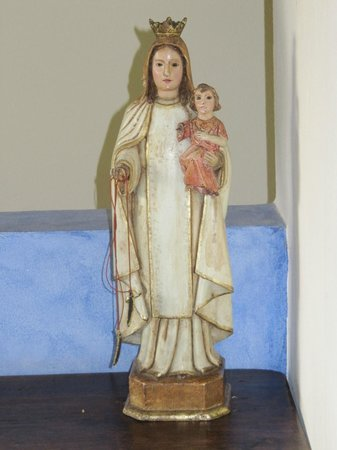 "Hacienda La Isla Lodge: Historical Madonna and Child in ""The Chapel"""