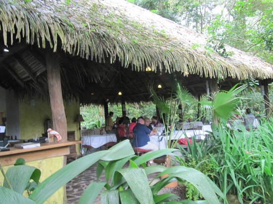 Hacienda La Isla Lodge: Open air dining room