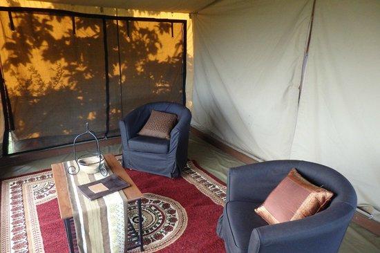 Ngorongoro Wildcamp: Front room in tent