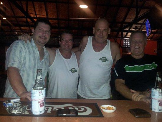 Kamala Beergarden: Having beers with Joe,Gregg and Larry at the Beer Gardens