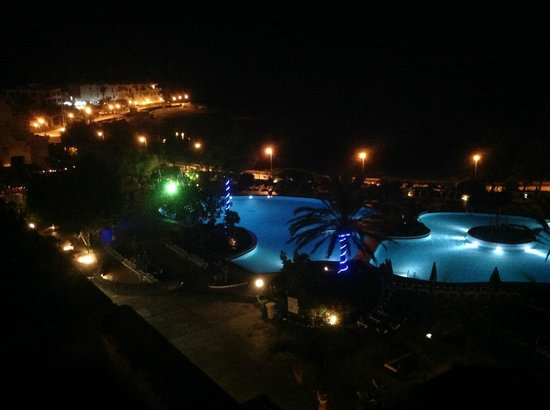 Hotel Grand Teguise Playa: View from room night