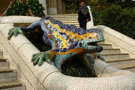 Parc Güell : lizard