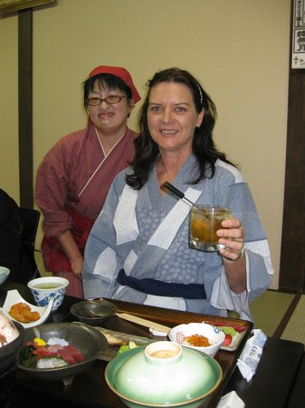 Oyado Yamakyu : Plum wine on the rocks…. oishi
