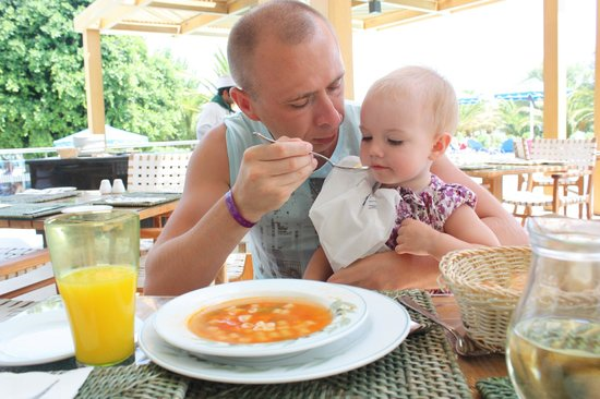 Mitsis Faliraki Beach Hotel : Обед в Итальянском  ресторане а ля карт