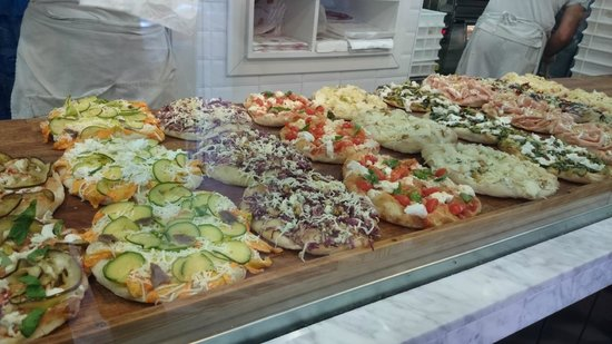 Pinsere: Selection of pizzas