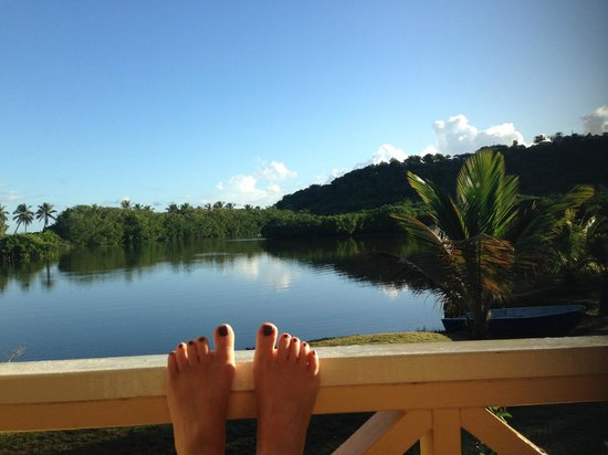 Antigua's Yepton Estate Cottages: The amazing view from our cottage