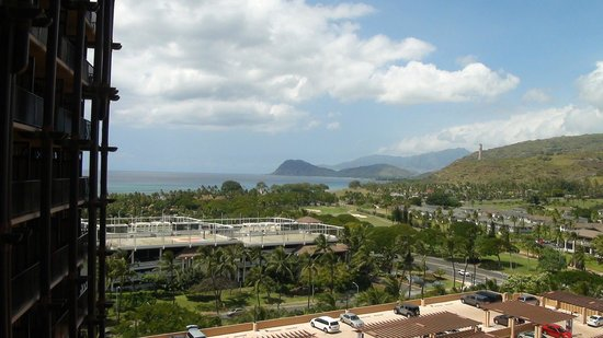 Aulani, a Disney Resort & Spa: Partial Ocean view towards the Westside (Waianae)
